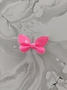Bright Pink 2 Inch Sequin Hair Bow