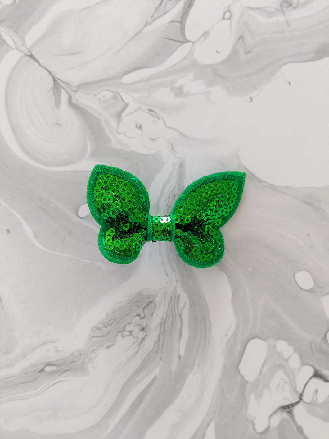 Emerald Green 2-Inch Sequin Hair Bow