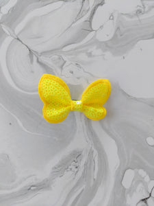 Sunshine Yellow 2-Inch Sequin Hair Bow