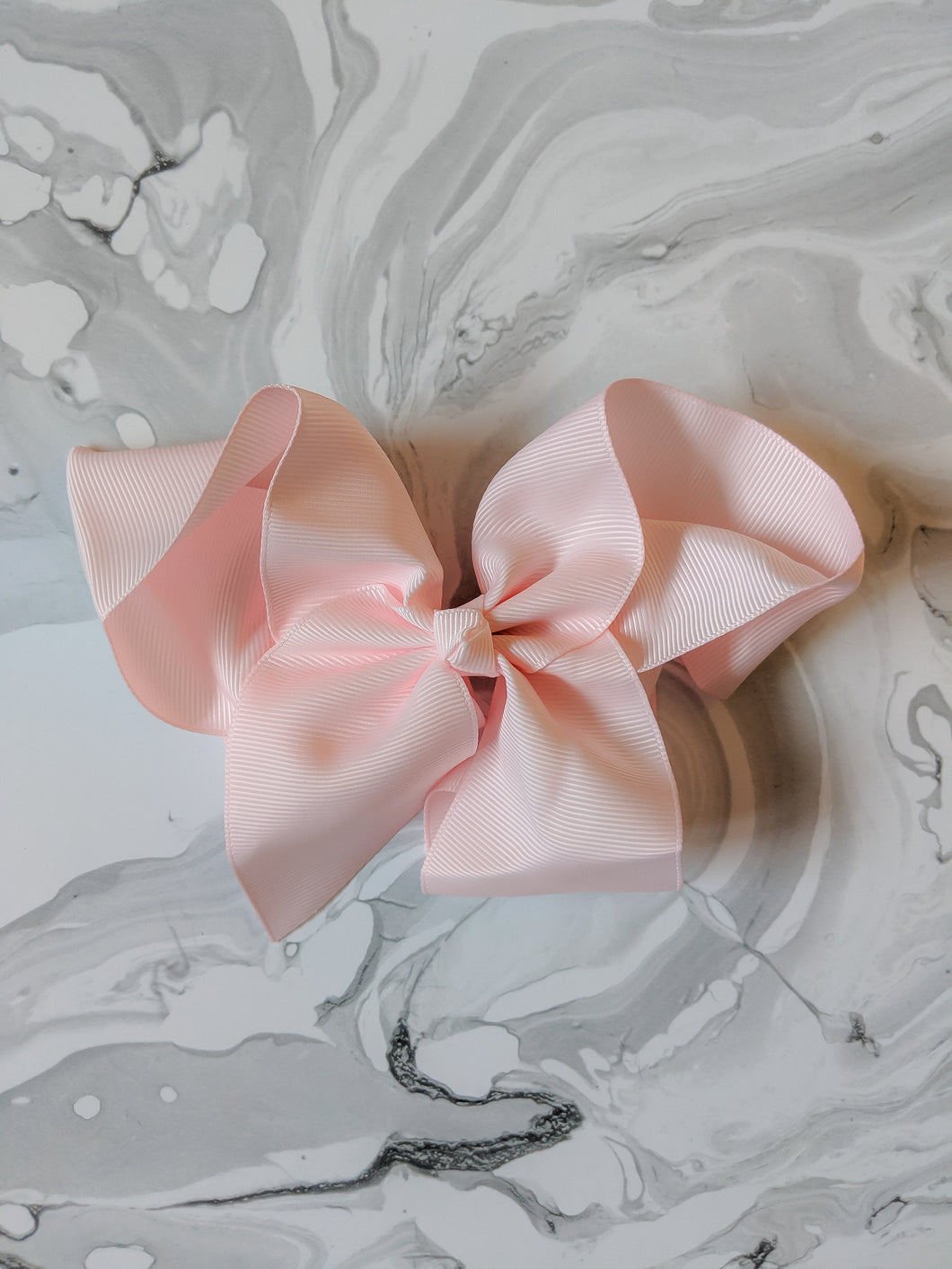 Pastel Pink 6 Inch Ribbon Hair Bow