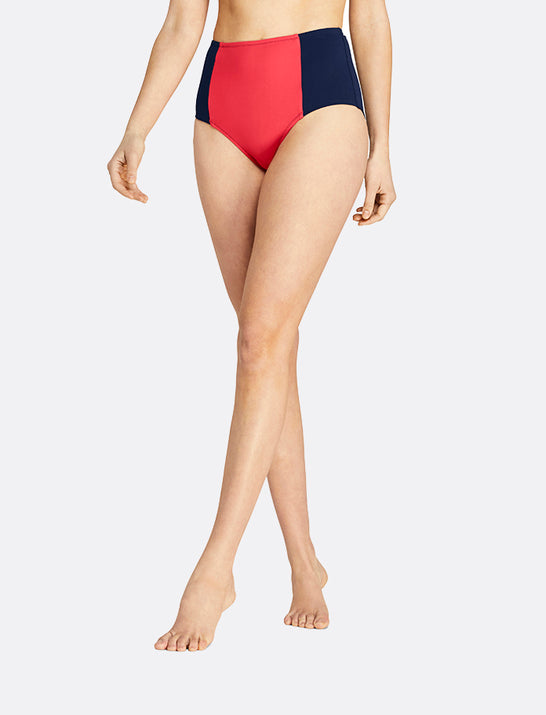 Draper James x Lands' End Retro High Waist Bikini Bottom