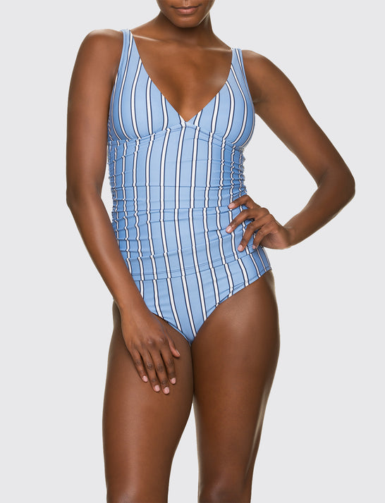 Helen Jon x Draper James Striped Convertible Tankini