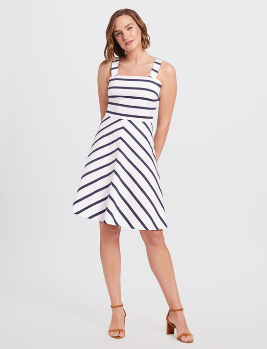 Stripe A-Line Dress
