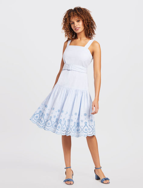 93cabce5736 Embroidered Belted Dress Embroidered Belted Dress
