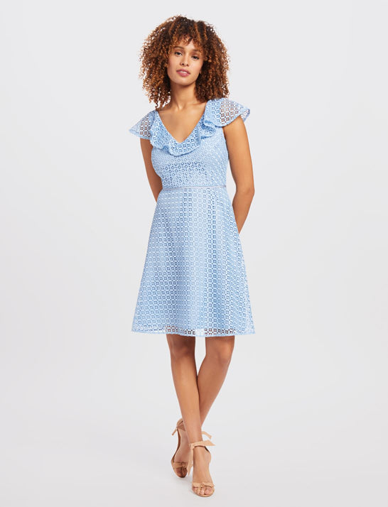 Lattice A-Line Dress