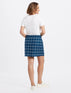 Windowpane Pull On Skirt