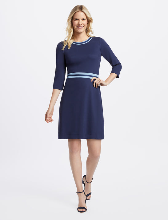 Solid Persley Ponte Dress*