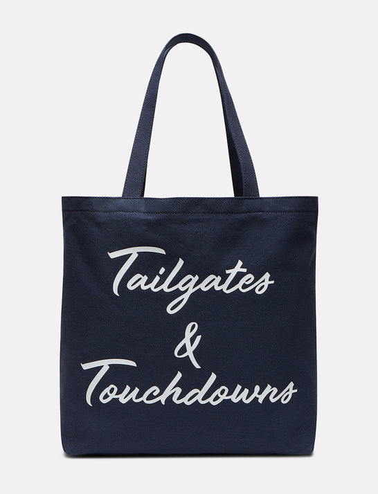 Tailgates & Touchdowns Canvas Tote
