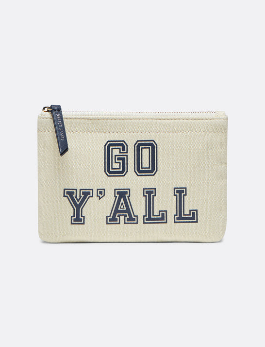Go Y'all Small Canvas Pouch