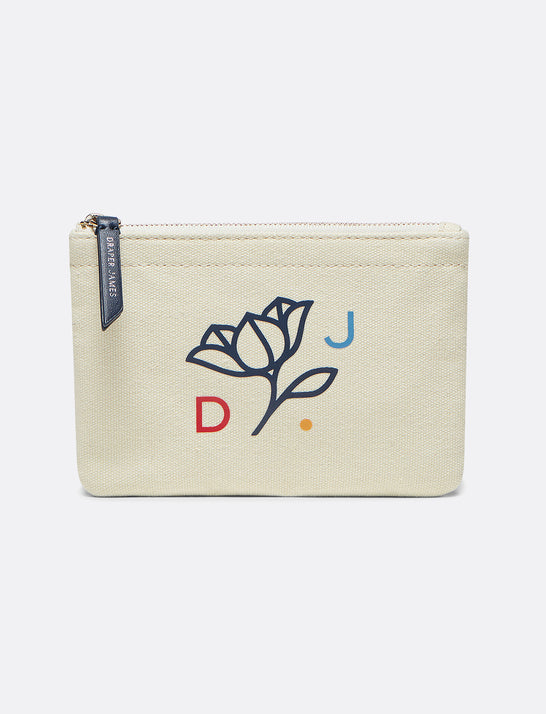 Logo Small Canvas Pouch