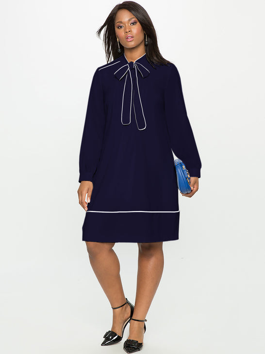 ELOQUII Soft Shirtdress with Piping