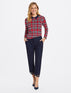 Holiday Plaid Collared Sweater