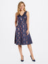 Collection V-Neck Floral Jacquard Dress