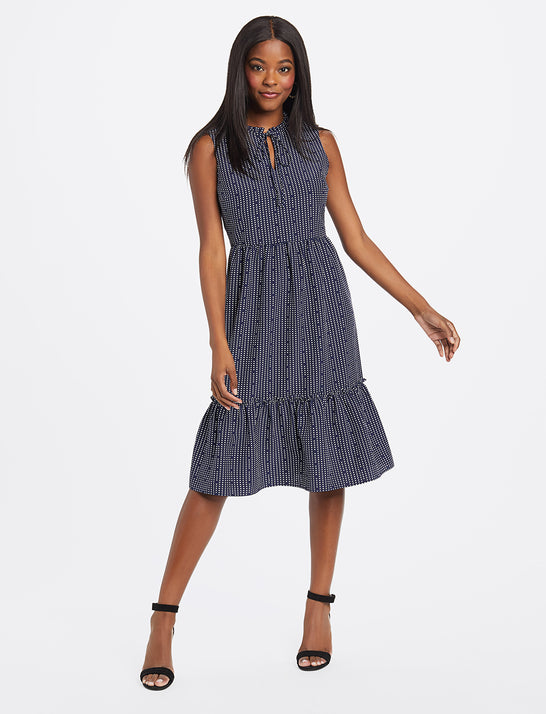 Heart Dots Tiered Dress
