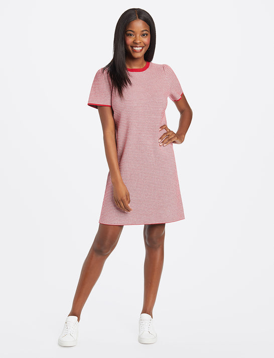 Textured Shift Sweater Dress