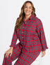 Angie Check Button Up Sleep Set