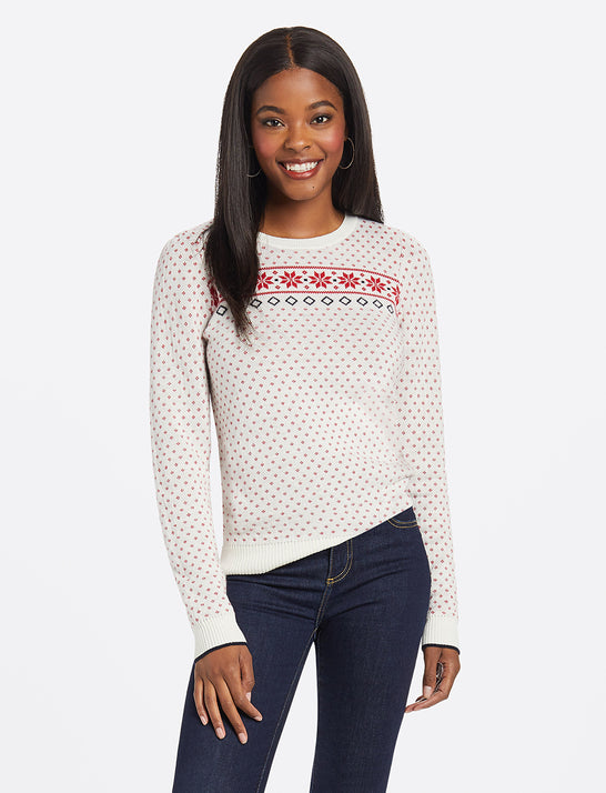 Fairisle Puff Sleeve Sweater