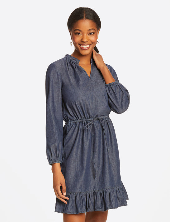 Chambray Popover Dress