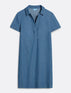 Collared Chambray Shift Dress