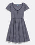 Flutter Sleeve Stripe Sailor Henley Dress