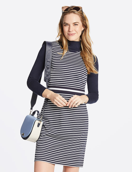 Striped Ponte Sheath Dress