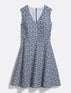 Embroidered Chambray Sleeveless Love Circle