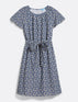 Embroidered Chambray Tie Waist Popover Dress*