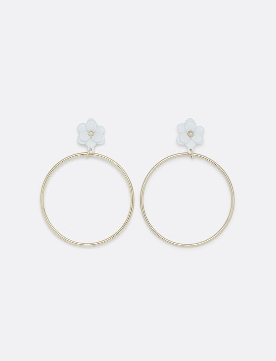 Magnolia Hoop Earrings