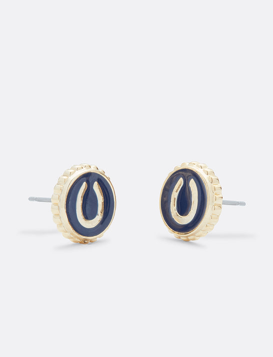 Horseshoe Icon Stud Earring