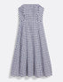 Gingham Strapless Midi Love Circle