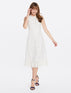 Pineapple Eyelet Midi Love Circle Dress