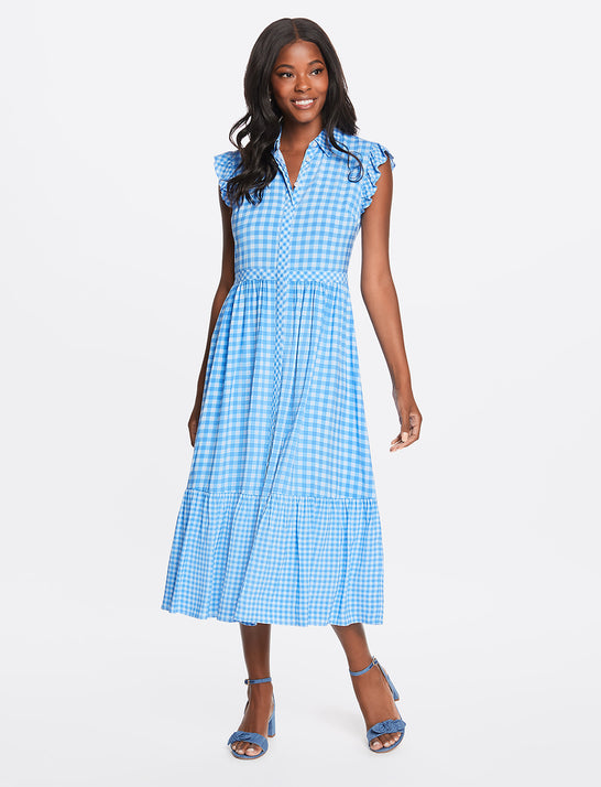 Flutter Sleeve Patio Shirtdress