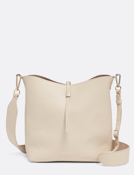 Leather Reversible Bucket Bag