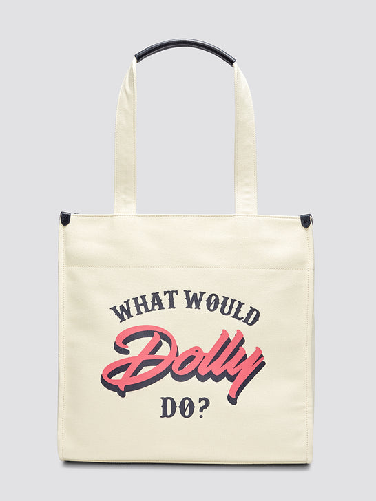 What Would Dolly Do Canvas Tote