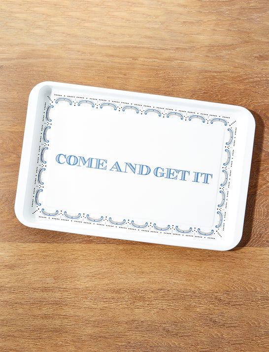 Draper James x Crate and Barrel Cookout Enamel Serving Tray