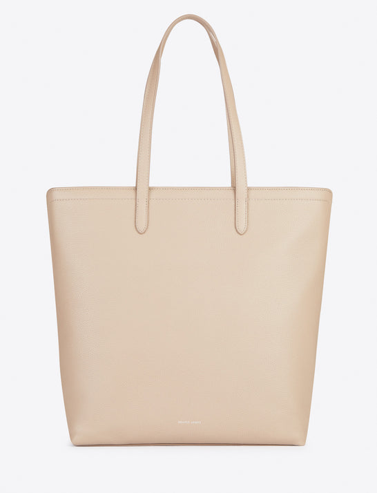 Leather Zip Top North South Tote
