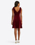 Velvet Bow Shoulder Dress