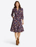 Loretta Shirtdress in Painterly Floral