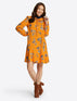 Rosanne Shift Dress in Marigold Floral