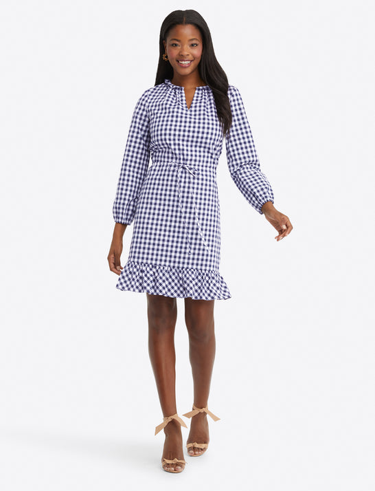 Lucinda Popover Dress in Gingham