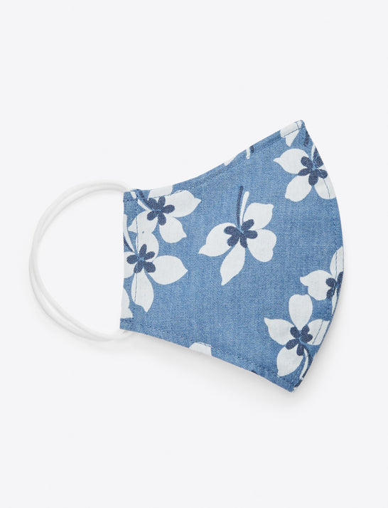 Chambray Floral Face Mask
