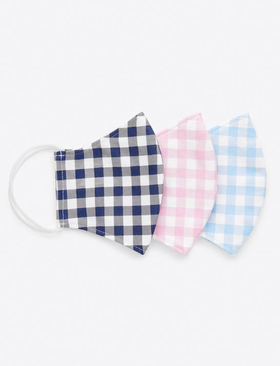 Gingham Mask 3-Pack