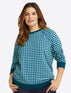 Natalie Sweatshirt in Gingham