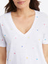 V-Neck T-Shirt in Micro Star