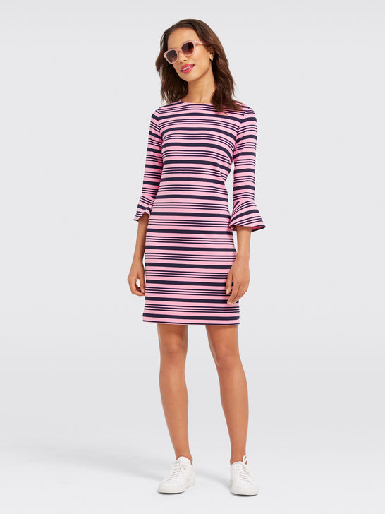 Ottoman Stripe Knit Dress