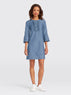 Chambray Ruffle Shift Dress