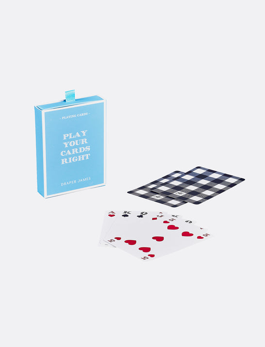 Gingham Playing Cards