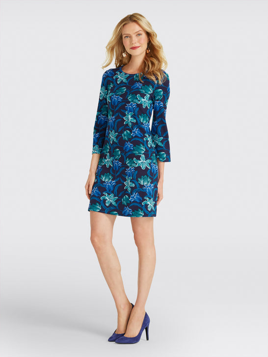Winter Floral Shift Dress