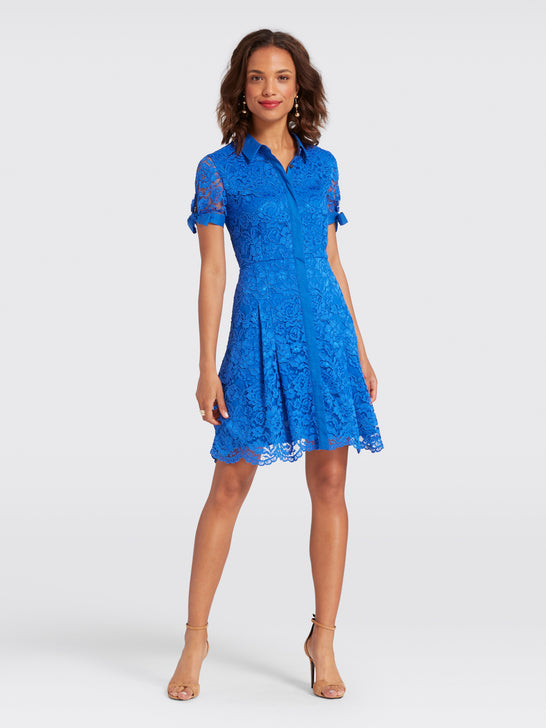 Tie Lace Shirtdress