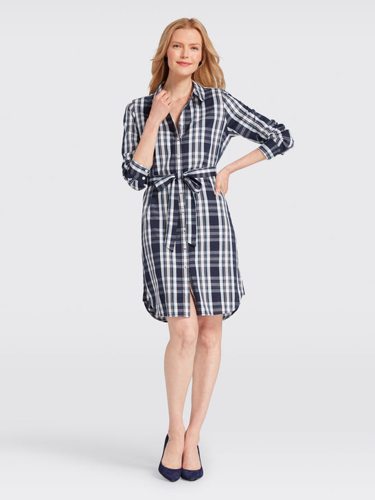 Plaid Shirtdress*
